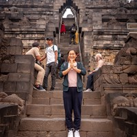Joy at Borobudur